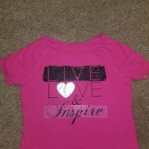 Lane Bryant-  Shirt,  Live,  Love & Inspire .